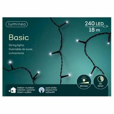 2x stuks kerstboom verlichting helder wit buiten lichtsnoeren 240 lampjes