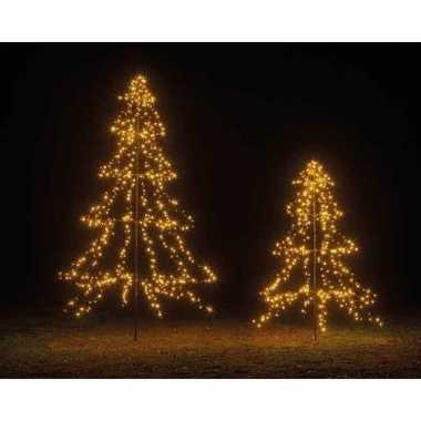 Grote verlichte vlaggenmast kerstboom warm wit buiten 200 cm