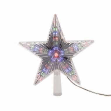 Kerstboom decoratie led ster piek gekleurd 22 cm | Kerstboom ...
