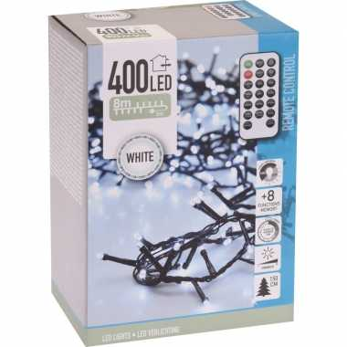 Kerstboom verlichting afstandsbediening helder wit buiten 400 lampjes