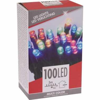 Kerstboom verlichting budget gekleurd buiten 100 lampjes
