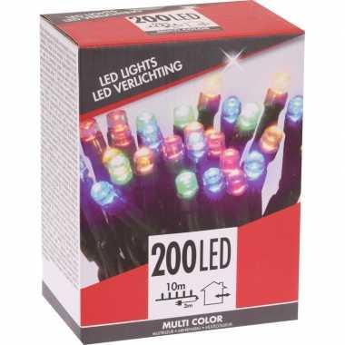 Kerstboom verlichting budget gekleurd buiten 200 lampjes