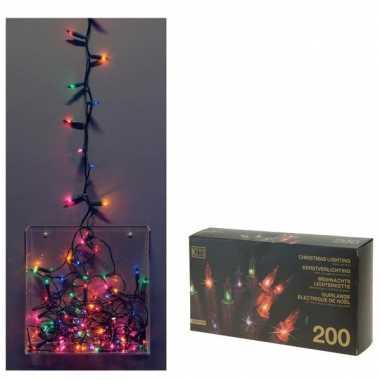 Kerstboom verlichting gekleurd binnen 200