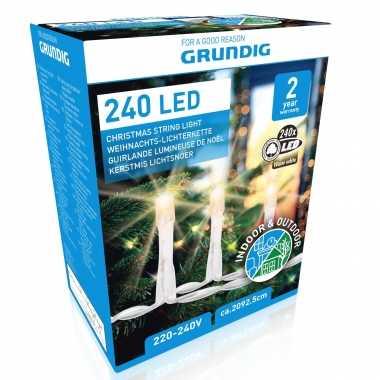 Kerstboom verlichting warm wit buiten lichtsnoeren 240 led lampjes