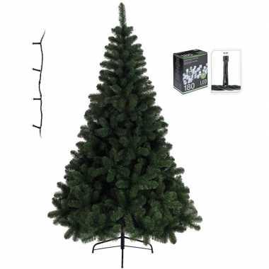 Kunst kerstboom imperial pine 120 cm met helder witte verlichtin