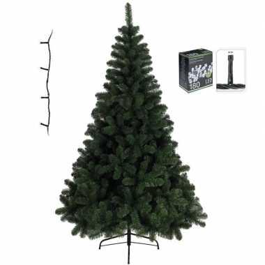Kunst kerstboom imperial pine 120 cm met warm witte verlichting