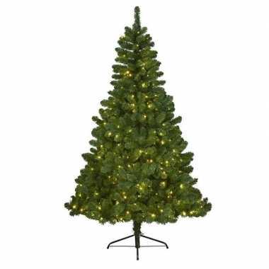 Kunst kerstboom imperial pine met verlichting 120 cm