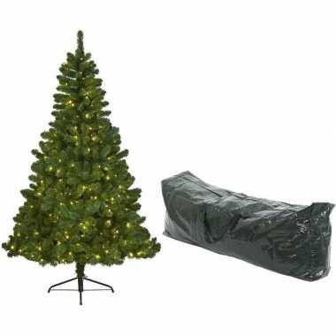 Kunst kerstboom imperial pine met verlichting 210cm en opbergzak