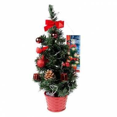 Mini kerstboom met LED lampjes rood