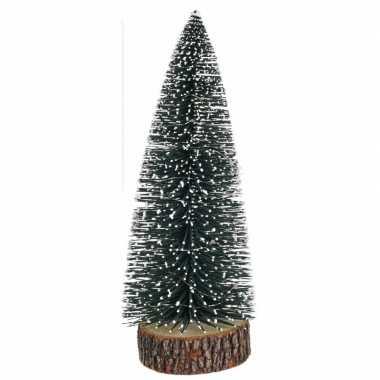 Mini kunst kerstboom met lampjes 28 cm
