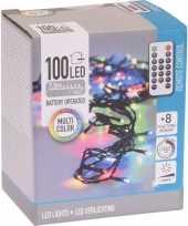 2x kerstboom verlichting afstandsbediening gekleurd buiten 100 lampjes