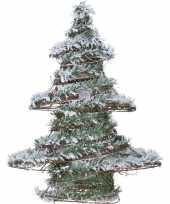 Decoratie kerstboom met led licht op batterij 50 cm