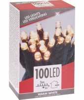 Kerstboom verlichting budget warm wit buiten 100 lampjes