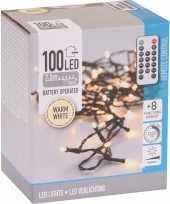 Kerstboom verlichting op afstandsbediening warm wit buiten 100 lampje